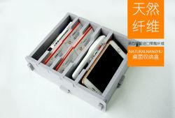Nouvel espace de conception de l'enregistrement en fibre de polyester Boîte de rangement de l'organiseur de bureau