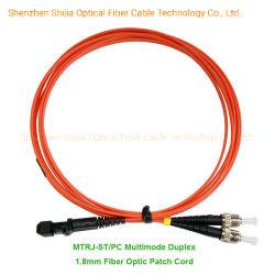MTRJ-ST/PC monomode duplex et simplex Câble de raccordement à fibre optique multimode
