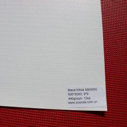 El lado blanco/negro laminado PVC Flex bandera utilizada en la industria de publicidad