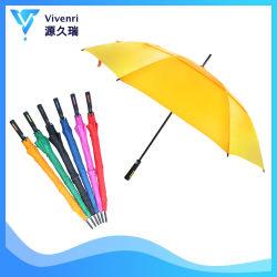 Parapluie personnalisé de marque de qualité supérieure, droit de la promotion de la publicité de golf à évent parapluie, parasol de pluie