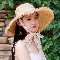 2021 인기 있는 핸드 우븐 새로운 패션 모자 비치 선셰이드 스트로우 모자