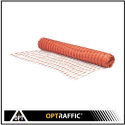 Erweiterte orange Aufbau-Sicherheits-Ineinander greifen-Filetarbeit, die Plastikbarrikade-Zaun einzäunt