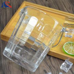 benna di ghiaccio di vetro di 0.8L Champagne con il dispositivo di raffreddamento di acqua del supporto del metallo