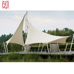 PTFEカバー抗張テントのパーマの構造が付いている鋼鉄トラスフレーム