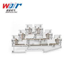 El conector Autopartes Primavera personalizada Bloque de terminales de cable de 2,5 mm de terminal de tres capas