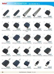 Connecteur vidéo audio 2,5 mm 6,35 mm 3,5 mm stéréo mono et adaptateur de fiche femelle