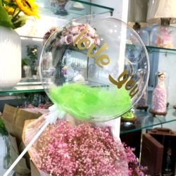 Globo Bobo Plástico de PVC transparente claro de la burbuja de forma redonda globos para fiesta de cumpleaños Decoración
