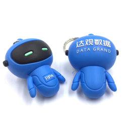 El Robot de goma suave de PVC de disco de la unidad Flash USB.
