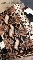 Imprimir el patrón de la serpiente de pieles de animales de pelo de vaca de la piel de ternero ocultar transpirable para los zapatos de cuero auténtico/Materiales de revestimiento superior/Materiales/bolsas de tela muebles