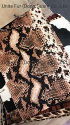 A impressão de padrões de serpentes de cabelo de cavalo bezerro de cabelos e peles de vaca para mobiliário em pele genuína, sacos, Calçados