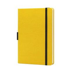 Bürobedarf Personalisierte gedruckte Logo gepunktet PU Hardcover Custom A5 Notizbuch aus Leder mit elastischem Band