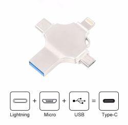 2021 Type-C/Lightning/Computer/Micro USB/Multi 4 in 1 OTG Micro USB/SD iPhone Android MacBook용 TF 카드 리더 스마트 MiniCard 리더