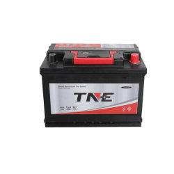 Fabricante de baterías 12V 75ah Mantenimiento auto de celda seca de plomo ácido Almacenamiento de automóviles gratis batería de coche de camión