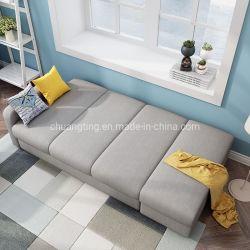 Хороший дизайн ткани для хранения Futon складной диван-кровать с Османской