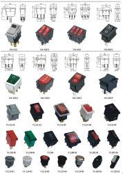Einpoliger 6A 250VAC 10A 125Vac Mini-Wippschalter Kcd1