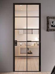 鉄鋼製フレームフロントダブルローガラスエクステリアパティオ(フランス料理 ドア