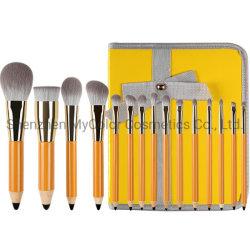 [15بكس] قلم بنية فرشاة مجموعة محترفة برتقاليّ فراش مجموعة [أم] جمال أدوات