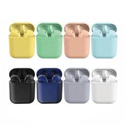Лучшие беспроводные наушники Inpods 12 робот MACARON цвет Wireless Bluetooth наушников в разъем для наушников Tws Inpods 12