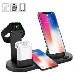 4 in 1 Wireless Ladegerät Netzteil/Telefonzubehör/Mobil/USB/Ladegerät Smartwatch-Laden Station Multi Ladestation für Zubehör für alle Mobiltelefone