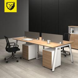 Современной офисной рабочей станции стальная рама таблиц MFC конторской мебели