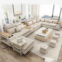 Tela o cuero salón sofá 7 plazas