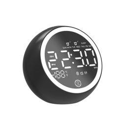 Lampe de veille avec réveil numérique USB Themometer haut-parleur Bluetooth