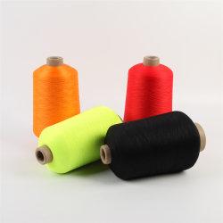 염색된 행크 털실 나일론을 뜨개질을 하는 높은 고무줄