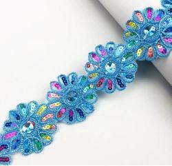 Букет из роз кружевной вышивкой в красочных 15 ярдов швейных DIY Craft кружевом африканских стран