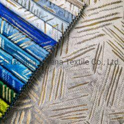 Nova chegada poliéster tingimento original de veludo da New Holland com lâmina de fantasia estofos de tecido de malha de mobiliário de design para sofá e de cortina tecido decorativas