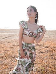 Lange Fußleisten-Spitze-Schultergurt-Brust-Harz-Tasten-dünne Abbildung schmeichelhaftes einteiliges Badebekleidungs-Badeanzug-Strand-Kleid für Damen