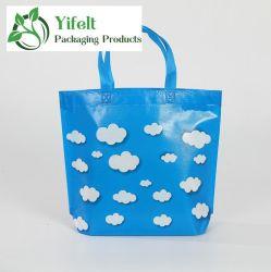 Свежие синий белый мешок Non-Woven Custom защита окружающей среды облачных вычислений Рекламные Сувениры Custom пленки мешок для упаковки