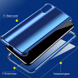 最大iPhone X Xs Xr Xsのための堅いパソコンの背部箱を電気めっきするプラスチックオーロラ