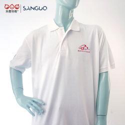 A impressão de tela do logotipo bordado Manga de camisa camisas polo personalizada