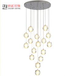 La decoración de interiores personalizados Post Moderno hotel de la burbuja de cristal lámpara de araña de proyecto