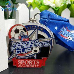 Commerce de gros souvenir professionnel personnalisé Metal Art Craft exécutant de Football Sport médaille olympique en émail gagnant des médailles d'attribution d'honneur de l'emblème en Chine (MD07)