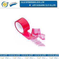 Ruban adhésif de sécurité inviolable à partir de l'emballage Okh