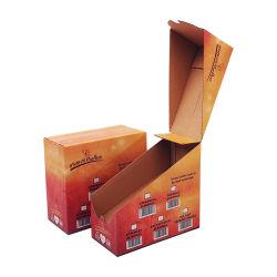 Zoll druckte Farbe auseinander reißen die Pappmuttern, die gewellten Bildschirmanzeige-Papierkasten verpacken