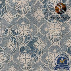Polyester 2,8M Peach avec fleur pourpre pour la litière Home Textile