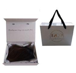 Offre groupée de gros perruque personnalisées Coffrets cadeaux Hair Extension à l'emballage avec doublure en satin
