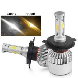 تصميم مجموعة مصابيح الإضاءة 900 4 Car Head Light 9005 9006 H11 Dual Color S2 H4 H7 LED Lamp Kit