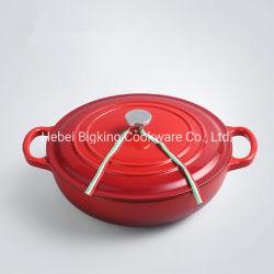 POT poco profondo delle azione del piatto del forno dello smalto del forno olandese di figura della casseruola del POT della minestra del ghisa