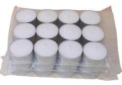 Haute qualité 100 % de la cire de paraffine blanc 100 PCS Tea Light bougie tasse en aluminium