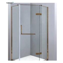 Vidro corrediço de interiores das portas do armário de casa de banho em vidro chuveiro Folha de vidro