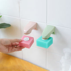 Venda por grosso de alta qualidade Design mais barato Rack sabão magnético montado na parede sabonetes prato