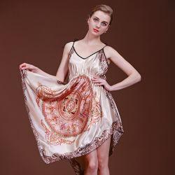 Полная программа ТОПС/Camisole моды для леди классический Мато шелк Sleepwear