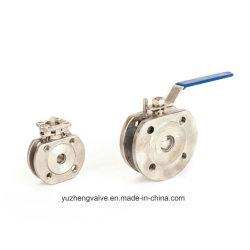 A indústria de bolachas de 1/2-4 a válvula de esfera com a norma ISO5211 Coxim de montagem