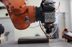Revestimiento de fibra láser de metal del eje de la máquina con sistema de control CNC