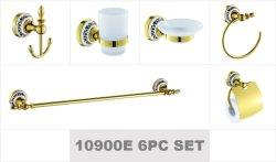 Cerámica de oro de diseño europeo conjunto 6PC Accesorios de Baño