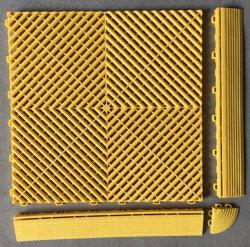 Verrouillage des carreaux de sol de garage en PVC, anti-dérapant tapis de plancher de garage de vidange de la tuile mosaïque de garage en PVC pour l'atelier
