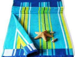 Telo da spiaggia extra large 100% cotone foglio di lusso in velluto Holiday 10 disegni